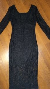 Candies Black Lace Midi Dress